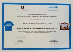 "Diploma ""Scuola amica Unicef"""